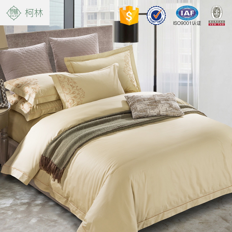 Hot sale dubai new design embroidery 100% cotton bed sheet