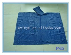 PV52 waterproof pvc bicycle rain poncho