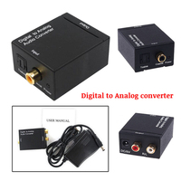 Rca to Coaxial Converter,Digital to Analog Converter Digital Optical Coax to Analog R/L Audio Converter