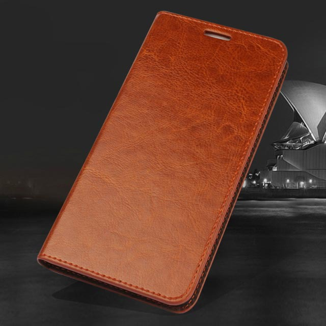 Crazy horse genuine leather flip case for huawei ascend mate 7 wallet case cover