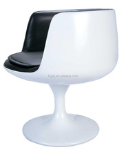 Modern cup shaped design leisure swivel Fiberglass Coffee cup chair