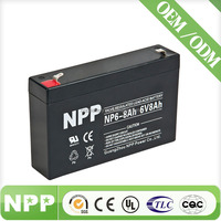 6V 8AH Valve Regulated Lead Acid Rechargeable Battery