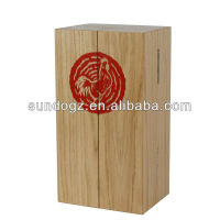 fashion real wood wine presentation box