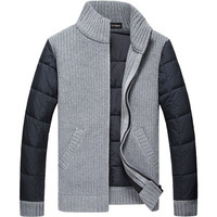 Latest Design European Style Man Cardigan Sweater Wholesale China Supplier