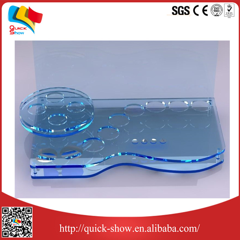 Floor standing printed high quality detachable acrylic scissor stand