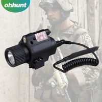 Mini Red laser sight Bright Tactical flashlight with mount