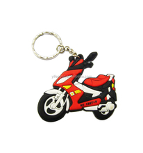 3d Soft PVC Keychain rubber motorcycle