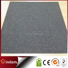 PVC anti-slip backing solid color carpet tile without pattern