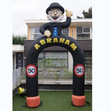 Inflatable Cartoon Abraham with Number Signs Holland Inflatable Old Man