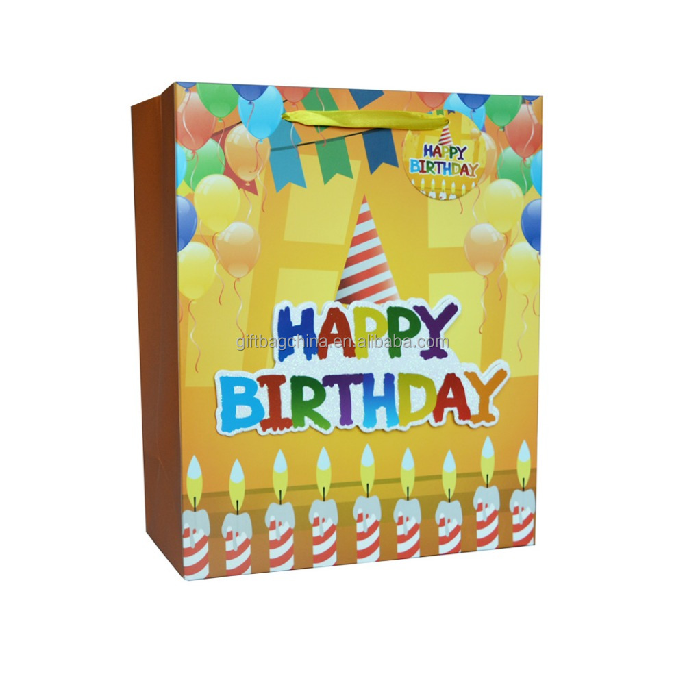 Wholesale paper gift bag birthday gift bag party gift bag
