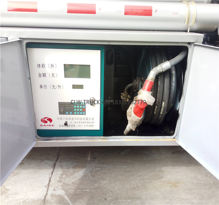 4x2 5000 liters fuel tank truck equipped with fuel dispenser