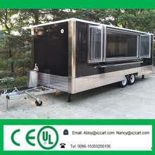 Top quality catering truck Mobile Food Van Trailer with Factory outlets