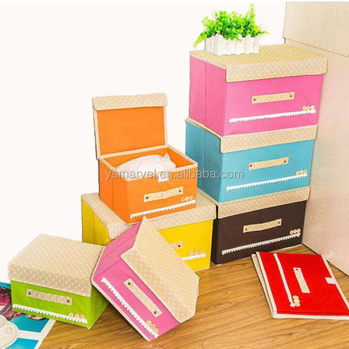 Two sizes underwear Non-woven fabric storage box with many colors
