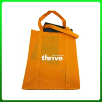 Promotional non woven shopping bag with gusset plate