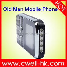 New arrival Big button quad band GSM old man OEM mobile phone with 5 LED Torch