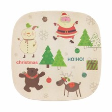 Compostable bamboo fiber dinner plate both for indoor dining room and outdoor picnic