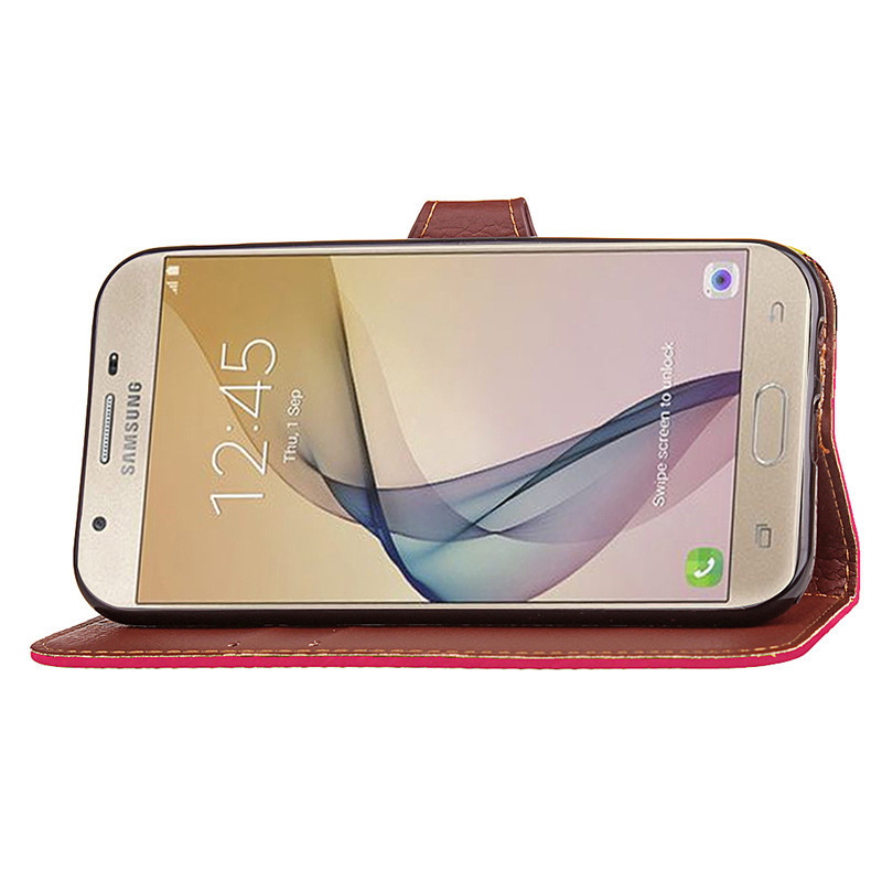 Hot Selling Wholesale Factory Price Mobile Phone Case forSamsung J7 Prime PU Leather Flip Cell Phone Case forSamsung J7 Prime
