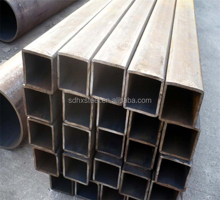 ms square pipe ss400 s355 price heavy gauge rectangular steel tube