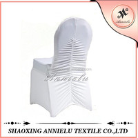 Wholesale white cheap ruched spandex chair cover