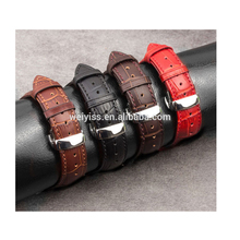 2016 hot sale High Grade High Quality Genuine Leather Strap Steel Buckle Watchband Watch Wrist