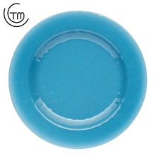 Wholesale Twinkle plastic luxury divided acceptable blue dinner kids melamine plates