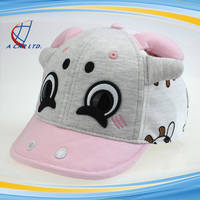 6 Panels Cartoon Cow 100% Cotton Embroidery Baseball Cap for Kids