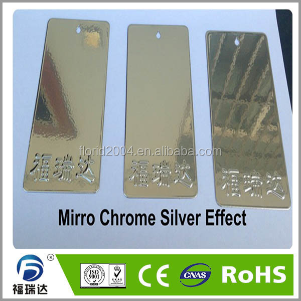 Plastic powder mirror chrome silver effect powder coating paints