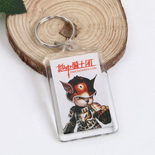 Cheap plastic keychain photo holder wholesale
