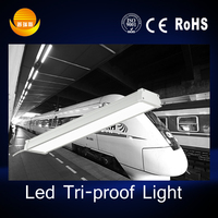 led subway lamps 2016 CE SMD 2835 waterproof LED tri-proof tube light IP65 150cm 50watt with 3years warranty