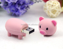 2016 Hot Selling Promotional 2gb 4gb 8gb Cartoon Character Pig 1TB Usb Flash Drive Pen Drive for Kids Gift USB4.0 Memory Stick