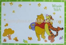 colorful PP UV printing place mat with animal for kids or household