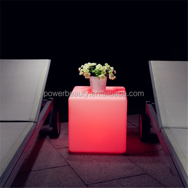 best quality rechargeable rgb glowing led bar/home cube table with SMD leds