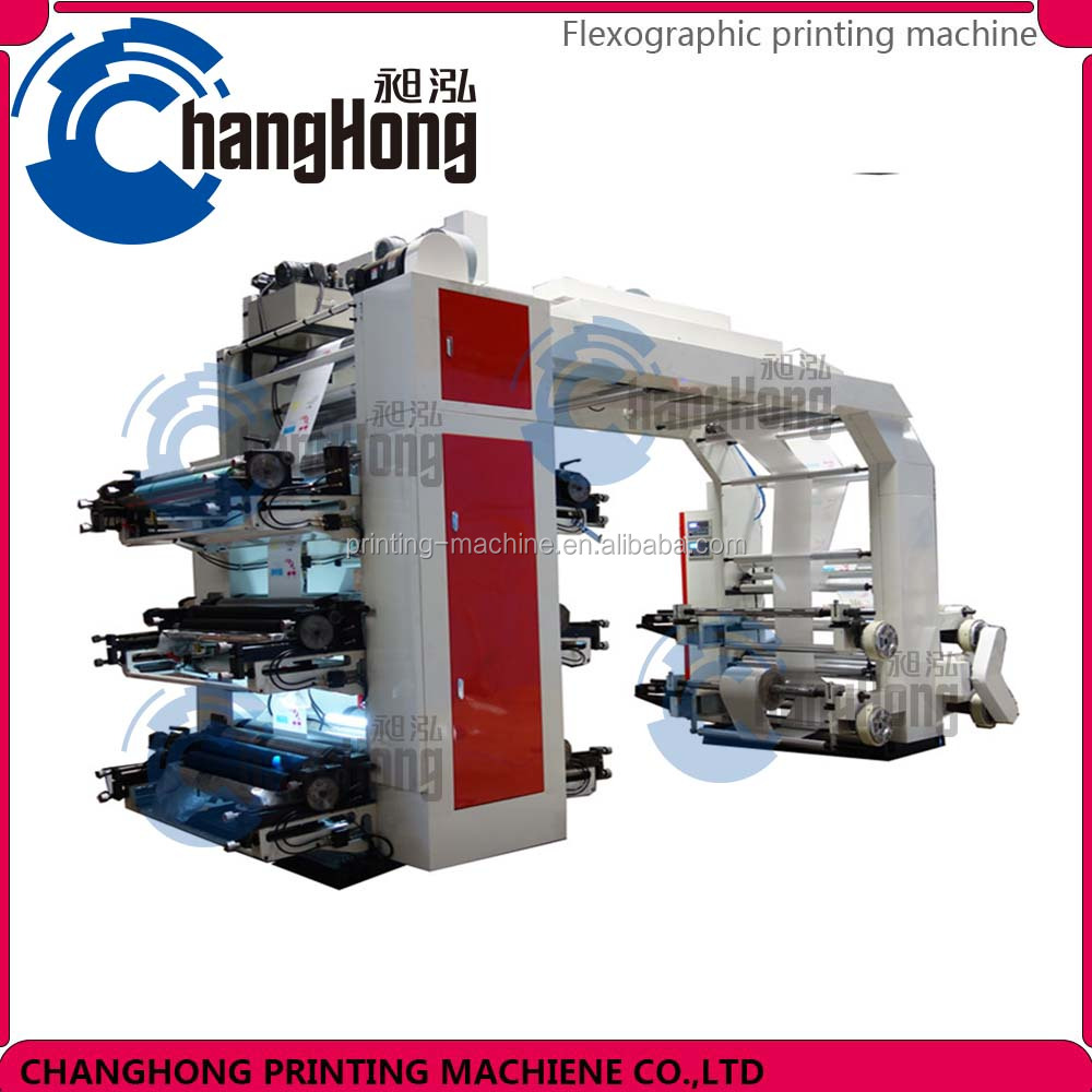 Changhong brand six color Plastic Film Flexography Printing Machine