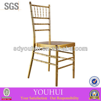 Golden aluminium chiavari chair