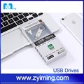 Zyiming OEM Gifts For iPhone SE 5S 6S iPad iPod OTG USB Flash Drives Pendrive 32GB 64GB Smartphone Tablet PC USB Flash Stick