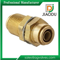 factory sale low price 1/4 inch forged cw617n brass tube fitting quick connector bulkhead union