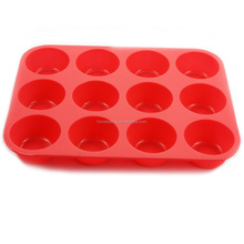 12-cavity round shaped silicone cake mold / muffin mould
