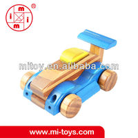 factory production ICTI certification mini toy eductaion bamboo toys car