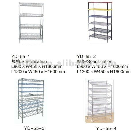 Different Styles Free Standing Wire Grid Countertop Display Rack