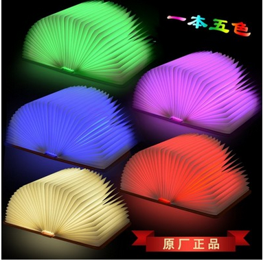 2017 Portable innovative book shape lamp bed reading light portable lumio
