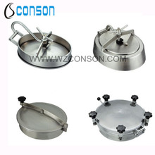 Stainless steel 304 or 316 manhole lid