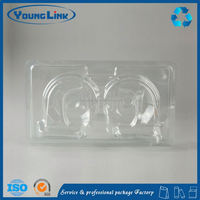 transparent esd plastic blister packaging tray for electronic component