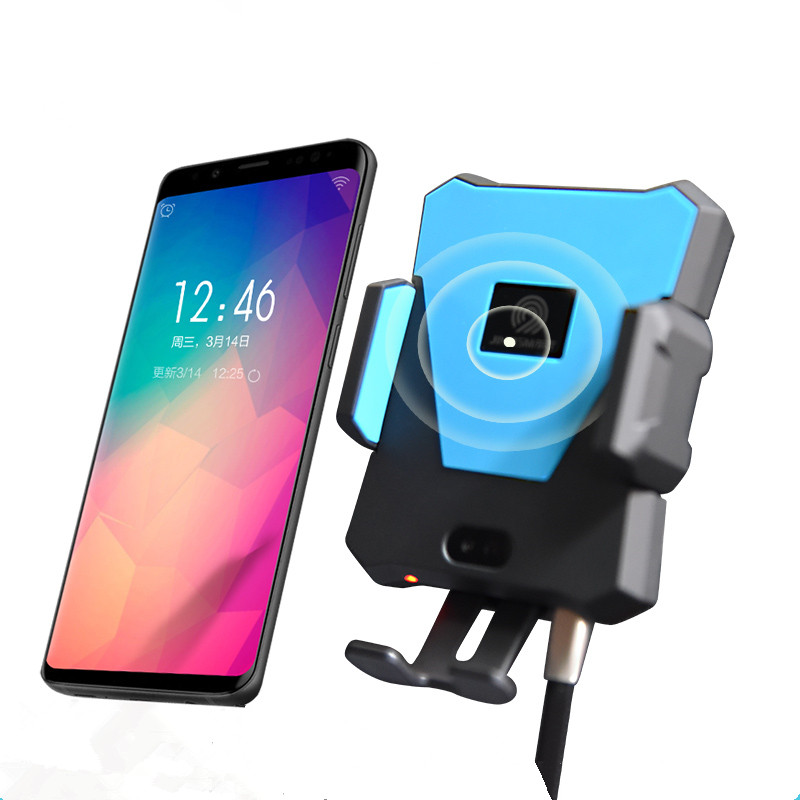 2019 Trending Products Car Fast Charging Phone Holder Mobile Phones Infrared Auto Sensor Car Wireless Charger C9 <strong>C10</strong>