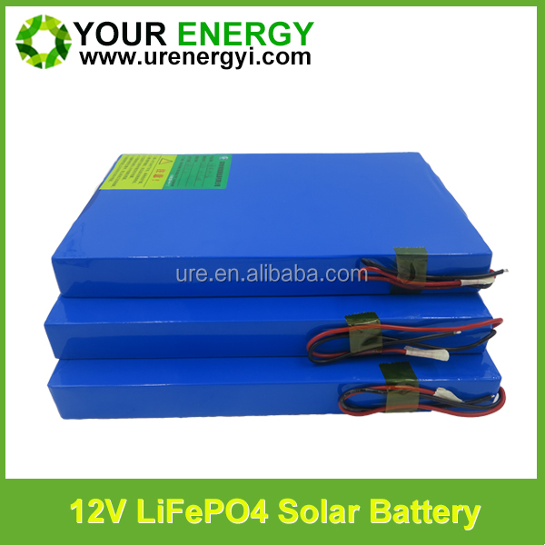 lifepo4 li-ion battery pack 12v 10ah 15ah 20ah 30ah 40ah 60ah solar street light lithium battery led lamp battery