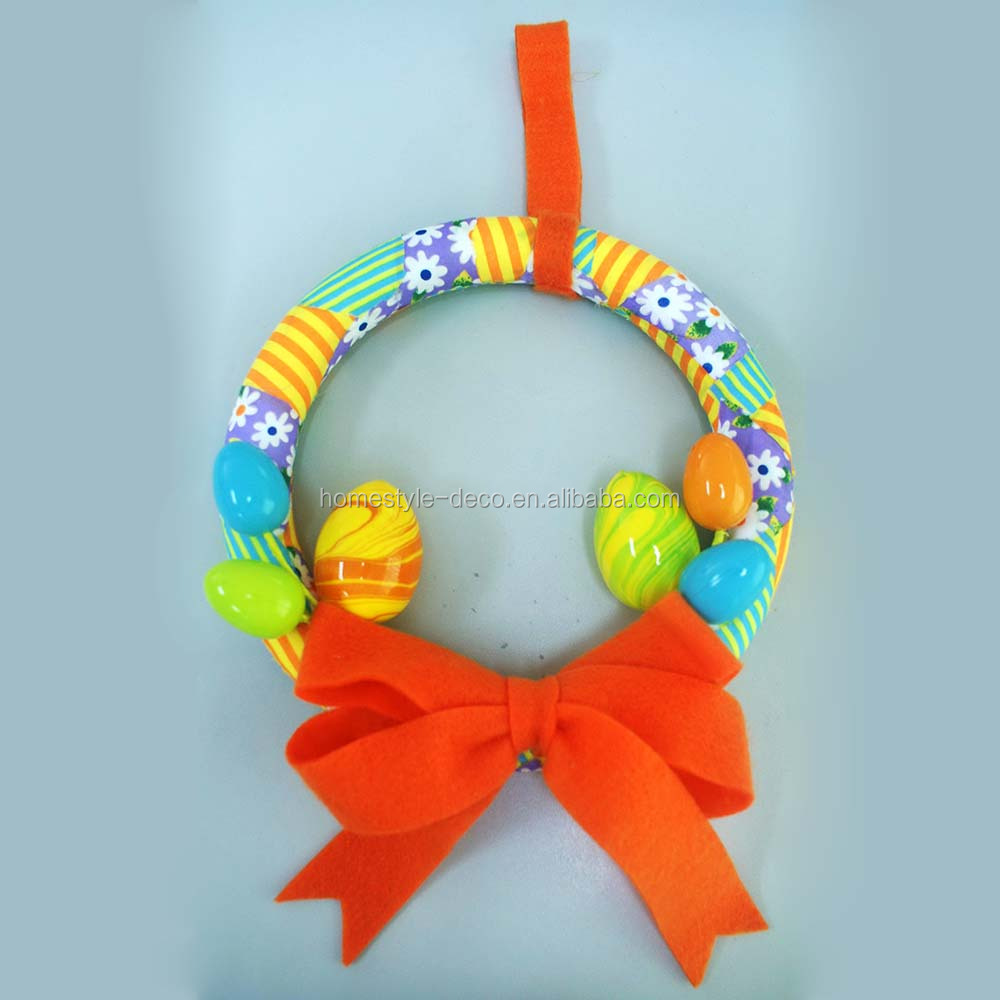 Wholesale easter decoration easter polyfoam wreath 25cm egg wreath
