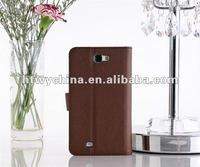 For Samsung Galaxy Note2 GT-N7100 brown Leather Flip Case card holder