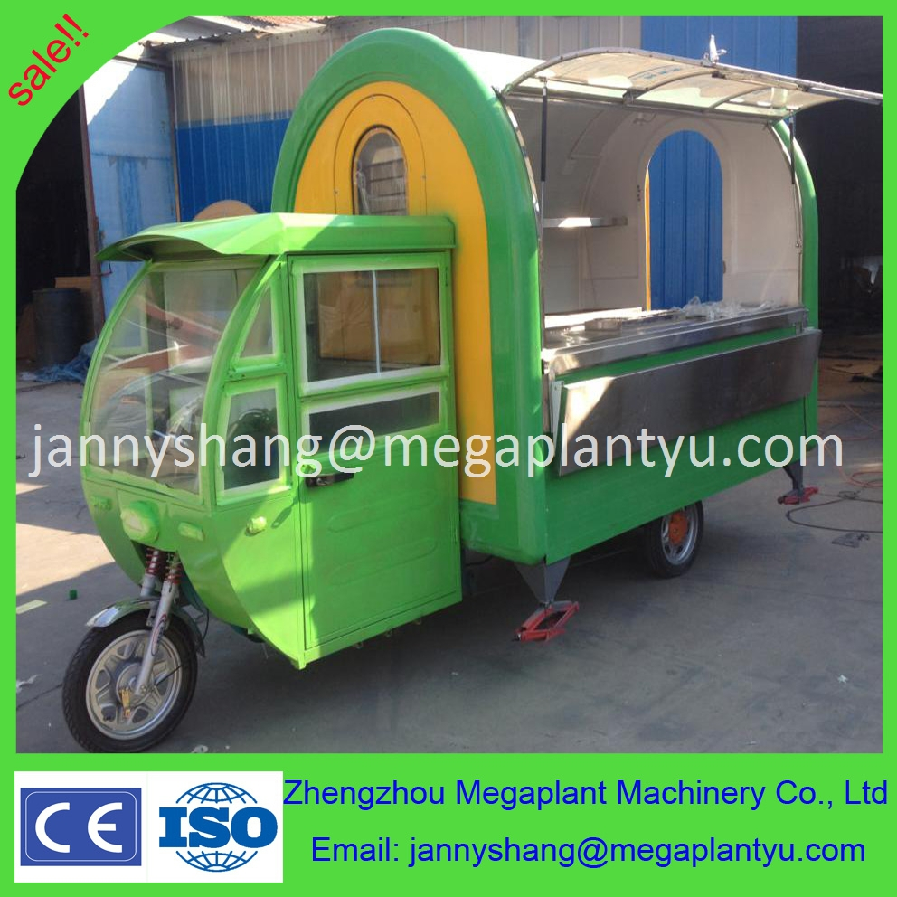 China Electric Tricycle Food Cart With Three Big Wheels Buy Tricycle Food Cart Mobile Food