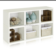 Modular Open wooden Cube display Storage box /home deco storage container