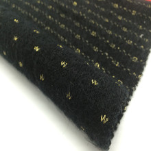 Gold silk dobby jacquard knitted acrylic fabric woman garment