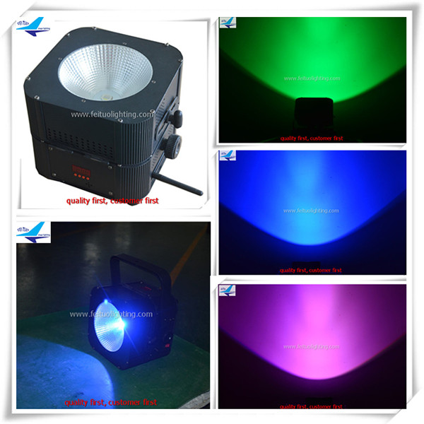 Led party lights flat stage lights 30w uplight battery powered wireless dmx cob par
